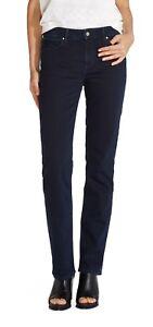 Wrangler-Straight-Leg-Stretch-Jeans-Womens-Ladies-Dark-Blue-Black-Denim