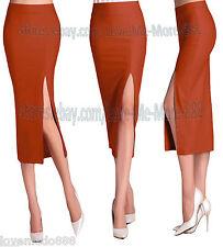 WomenS High Waist Stretchy Fit Bodycon Celebrity Work Long Maxi Skirt Dress 2XL