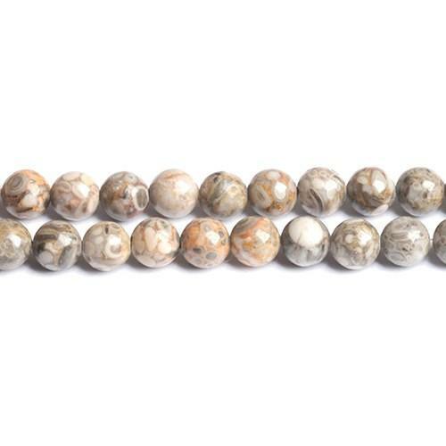 Ocean Jasper Round Beads 6mm Grey 60 Pcs Gemstones DIY Jewellery Making Crafts