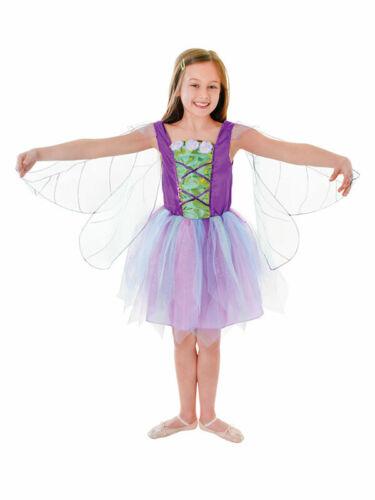 Costume FATA ALATA Fairytale Costume Bambine Pixie Libro Settimana età 3-10