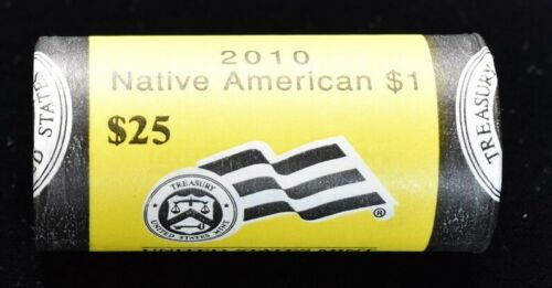 $25 Mint Wrapped Roll 2010-D Native American Golden Dollars