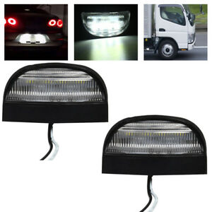 2x-12V-24V-LED-arriere-plaque-immatriculation-lampe-lumiere-camion-remorque