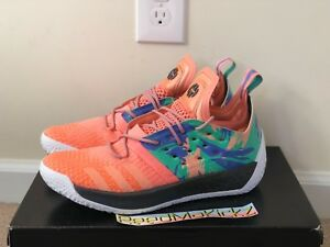 sports shoes 1110a a4e7a Image is loading Adidas-James-Harden-Vol-2-Coral-California-Dreamin-