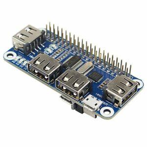 Usb-Hub-Hat-mit-4-Anschluss-fuer-Raspberry-Pi-3-2-Zero-W-Erweiterungs-Karte-NK