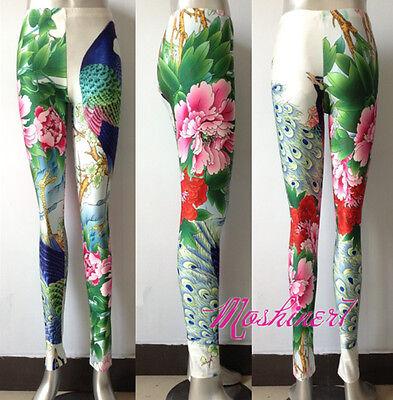 2013 New Women's Flowers Digital Printing Leggings Elastic Pants Wholesale !