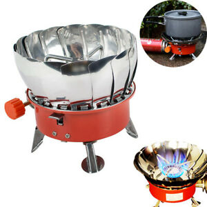 Portable Windproof Outdoor Mini Square Gas Butane Burner Camping Fuel Stove