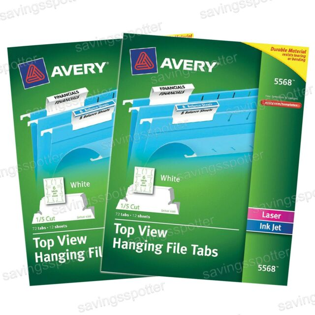 It is a picture of Printable Hanging File Folder Tab Inserts regarding office supply