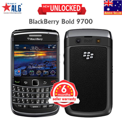 1 of 1 - New BlackBerry Bold 9700 Unlocked Qwerty Phone Black Business Smartphone