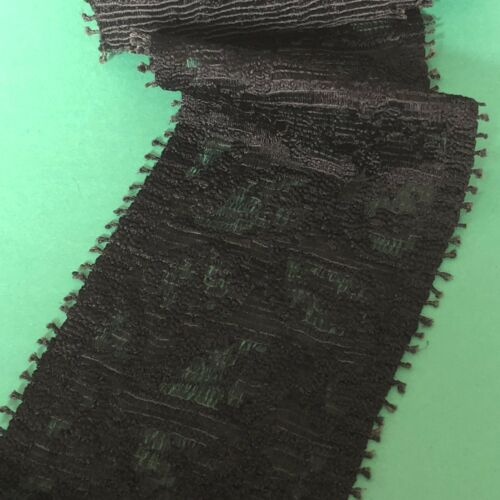 1m x 95mm Black Lace