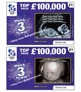 Baby-Scan-Photo-Pregnancy-Announcement-Scratchcard-Card-REVEALS-SCAN-PHOTO