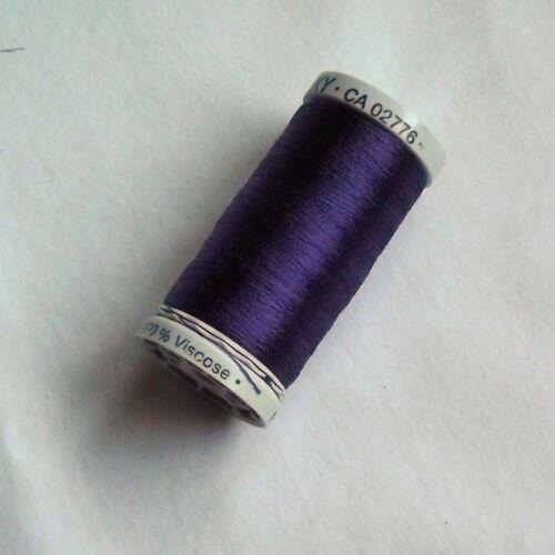 TC58 500m spools Purple Shades Machine Embroidery Gutermann Sulky Rayon 40