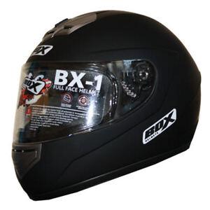 Clearance-BOX-BX-1-Full-Face-Motorbike-Motorcycle-Helmet-Sharp-4-MATT-BLACK-XL