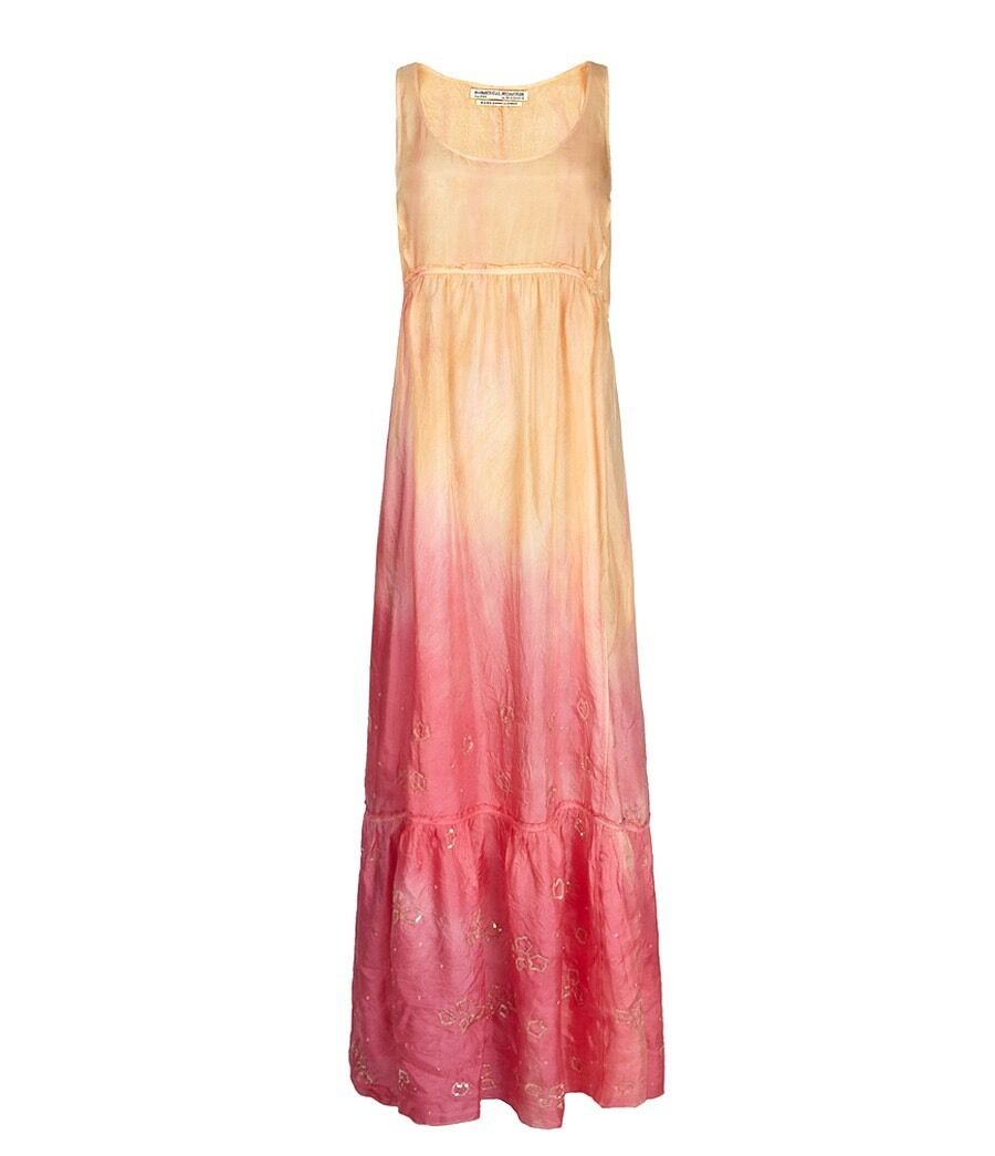 BNWT ALL SAINTS OMBRE OMBRE OMBRE SILK DIP DYE EMBELLISHED MAXI DRESS 6 a6ad5a