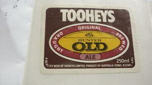 OLD-AUSTRALIAN-BEER-LABEL-TOOHEYS-SYDNEY-OLD-HUNTER-250ml-1980s