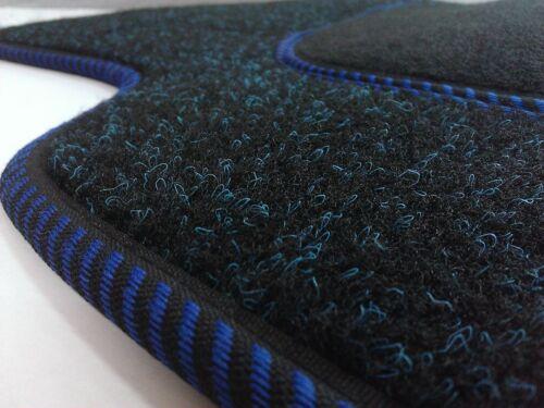 Maßgefertigte Fußmatten für BMW 3 E90  Velours BLAU Komplett Set
