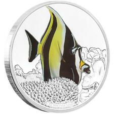 Niue 2 Dollar 2019 Halfterfisch - Reef Fish (3.) - 1 Oz Silber PP