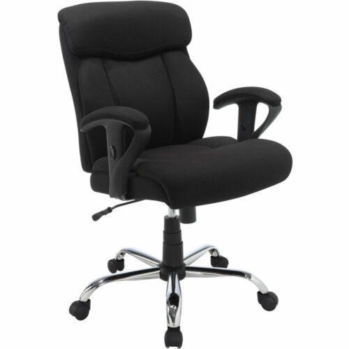Black Mesh Fabric Big and Tall Manager Chair Serta Office Furniture *BRAND NEW*
