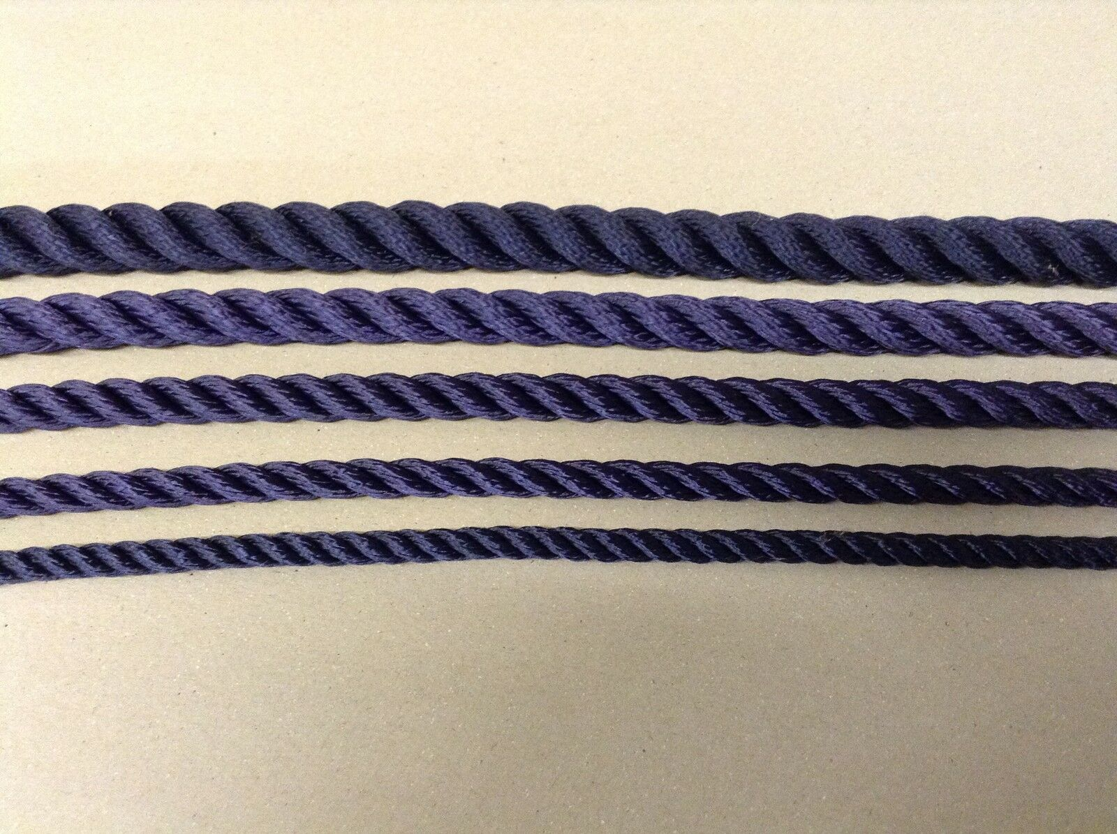 Navy bluee 3 strand Polyester Strong Good Quality rope Ideal for Mooring ++