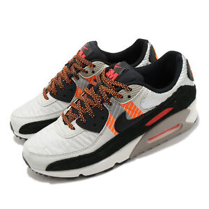 Nike Air Max 90 3M Light Bone Black Orange Reflect Silver Red Men CZ2975-001