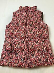 ee9526c66f Lands End Kids 14 Years Large Pink Multi-colored Floral Quilted Down ...