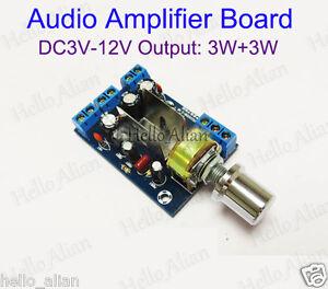ac dc 5v 12v 2 3w tea2025b stereo mini audio power amplifier board dual channel ebay. Black Bedroom Furniture Sets. Home Design Ideas