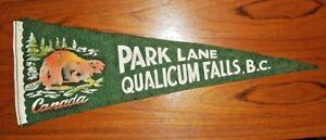 Vintage-Park-Lane-Qualicum-Falls-B-C-Canada-Felt-Pennant-Banner