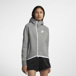 Zip Nylon Femmes Petite À Gris Polaire Nsw Veste En New Molleton Capuche Tech En Blanc Nike PiuOXkZT
