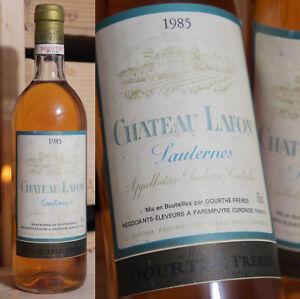 1985er Chateau Lafon-sauternes-top!-afficher Le Titre D'origine Blanc Pur Et Translucide