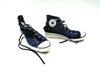Converse Hi NESS Cutout Wedge Sneaker Shoe Women's Size 5.5 Blue   eBay