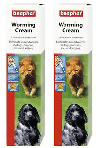 Beaphar-Worming-Syrup-Worming-Cream-Dogs-Puppy-Dewormer-Roundworm-Treatment-Pups