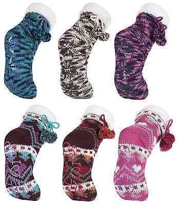 1 Paar Damen Hausschuhe Booties Indoor Rutschfeste Socken Mehrfarbig