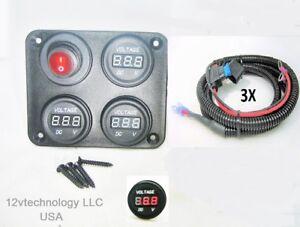 12V-Battery-Voltmeter-Monitor-For-Three-Banks-Switch-Marine-House-Starting-60-034