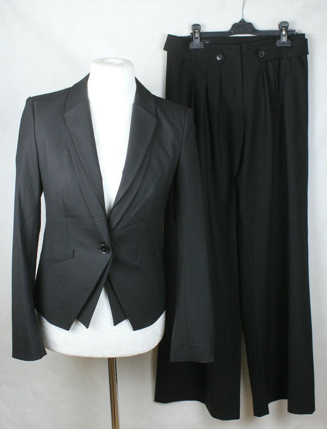 Toni Gard Anzug Hosenanzug in schwarz,Wolle&Elastan, Damen Gr.36 L34,sehr gut