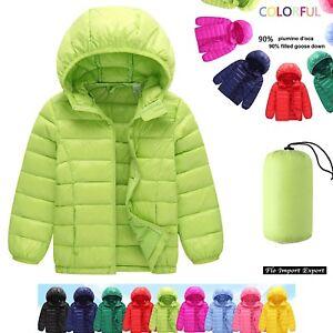 Cappotto-Giacca-Bambini-Piumino-D-039-Oca-Children-Hoodies-Jacket-Duck-Down-CHJAC02