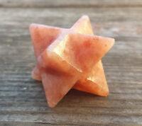 Natural Sunstone Gemstone Merkaba Star (one) - Buy It Now