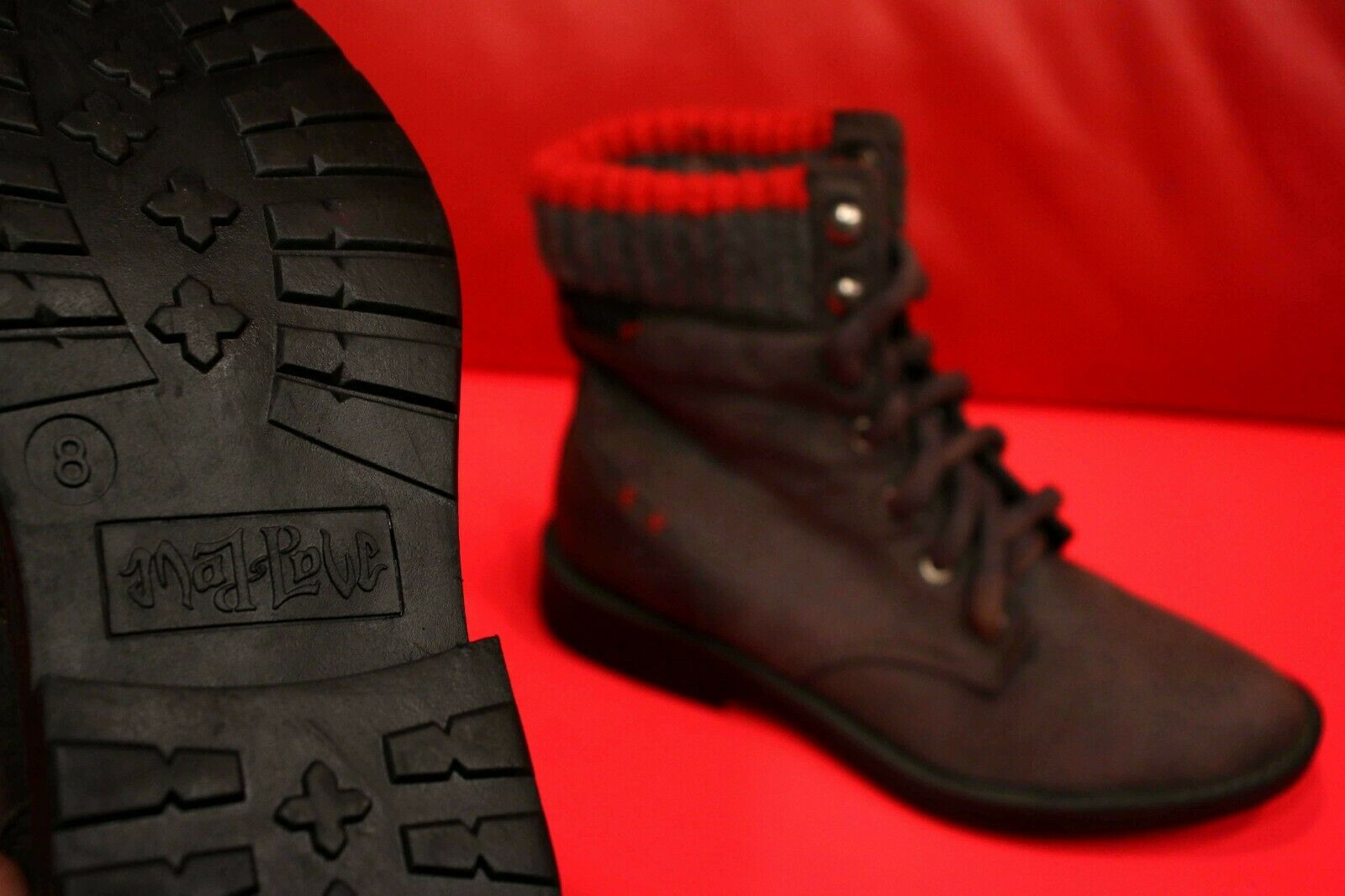 Mujer De Lujo gris De Invierno Otoño ACOLCHADO botas TALLA 8