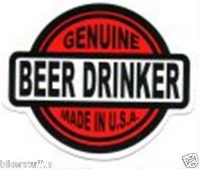 GENUINE BEER DRINKER MADE IN U.S.A.HELMET STICKER LAPTOP STICKEr HARD HAT DECAL