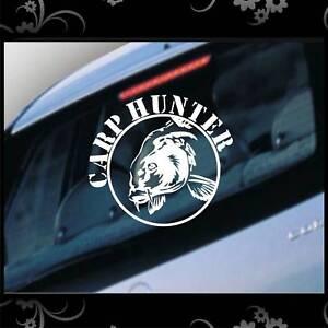 Auto Aufkleber Carp Hunter Angeln Karpfen Fz1302 Ebay