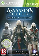 ASSASSINS CREED HERITAGE COLLECTION ASSASSIN'S 1,2,3,REVELATIONS HERMANDAD XBOX