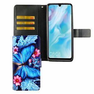 Huawei-P30-Lite-Custodia-Cover-per-Cellulare-Protettiva-Flip-Astuccio-Blau