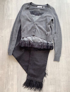Charli-London-Cashmere-Angora-Lambs-Wool-Blend-Cardigan-Cami-Grey-Sz-10