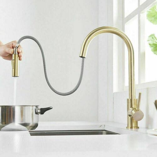 Modern Kitchen Sink Mixer Tap 360° Swivel Pull-Out Sprayer Touch Sensor Faucet