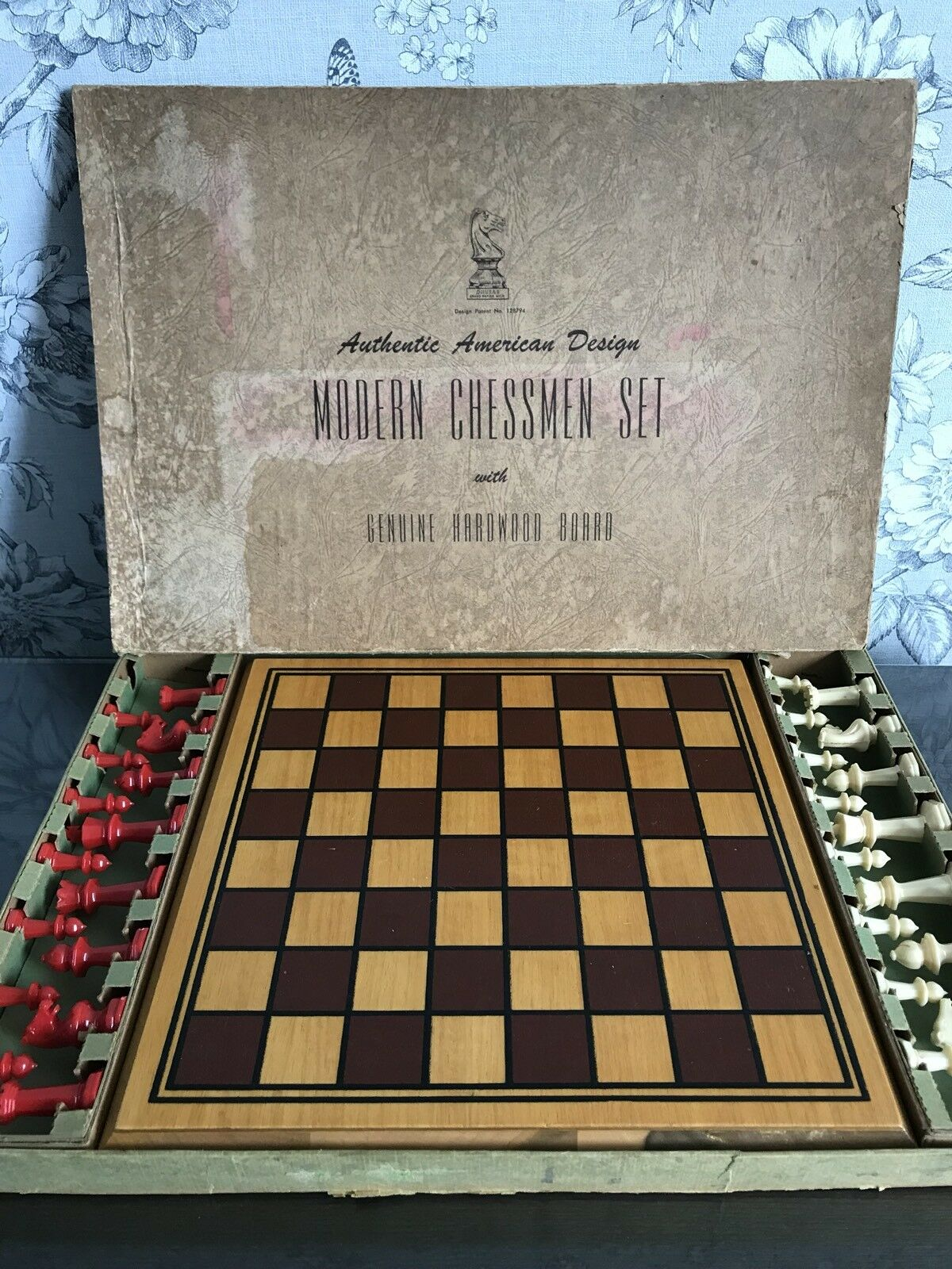 Rare Original Unplayed Drueke Wooden Wooden Wooden Hard Wood chess set No 131 Boxed Excellent 6b122b