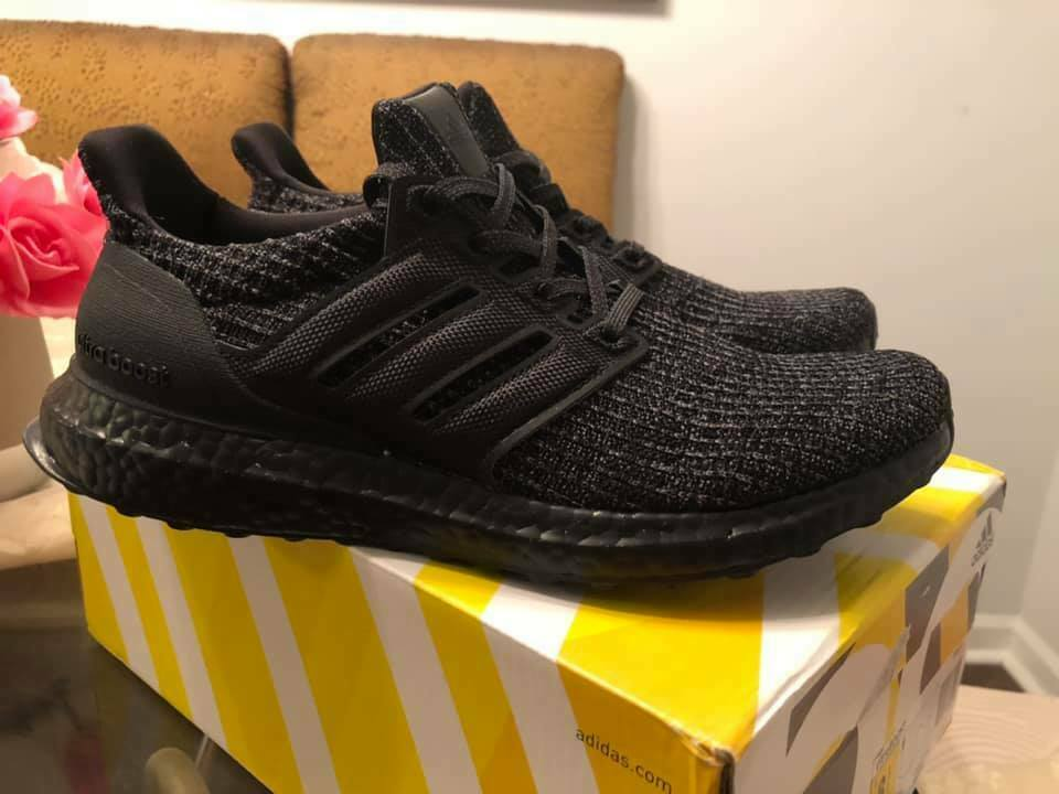 sports shoes 21b06 508e7 New Adidas Ultra Boost 4.0 Triple All Black BB6171 Size 12