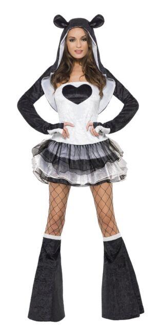 Fever Kollektion Panda Kostüm Damen mit Tutu Kleid und abnehmbaren
