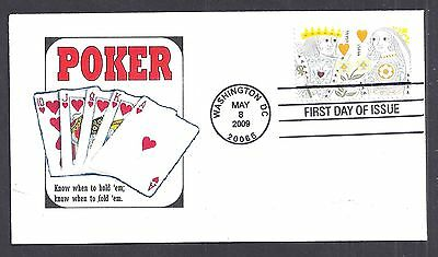 4404-05 * KING & QUEEN OF HEARTS  * POKER THEME *