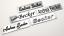 Indexbild 1 - Namensschild Türschild Briefkastenschild Adressschild 60x15mm - versch.Varianten