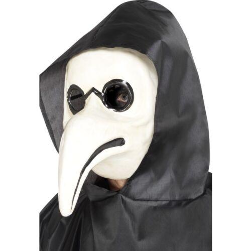 Women/'s White Authentic Plague Doctor Mask Fancy Dress Halloween Masquerade Hen