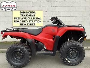 2016-HONDA-TRX420-FM-MANUAL-FOURTRAX-4x2x4-4WD-QUAD-ATV-FOUR-WHEELER
