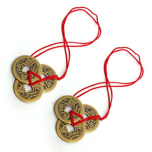 Details about 2 Set Of 3 Chinese Feng Shui Coins For Wealth And Success  Good Luck Gifts Hot